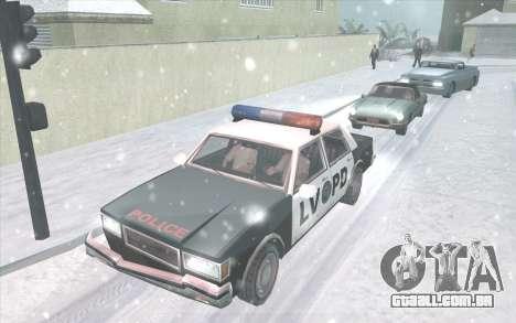 Snow San Andreas 2011 HQ - SA:MP 1.1 para GTA San Andreas segunda tela