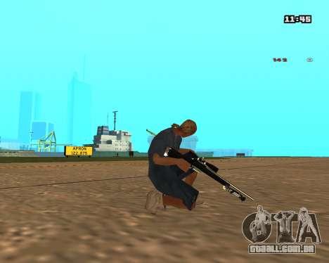 White Chrome Sniper Rifle para GTA San Andreas segunda tela