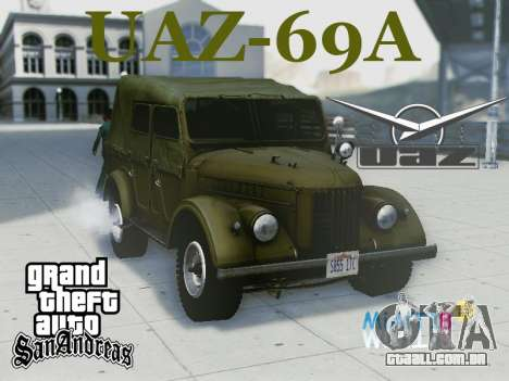 UAZ-69A para GTA San Andreas vista interior