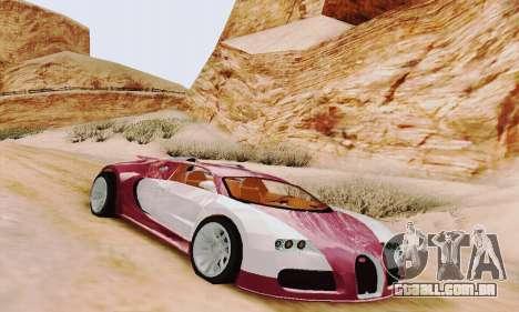 Bugatti Veyron 16.4 Concept para GTA San Andreas esquerda vista