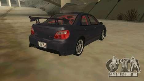 Subaru Impreza WRX STI Drift 2004 para GTA San Andreas vista direita