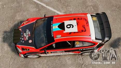Ford Focus RS Munchis WRC para GTA 4 vista direita