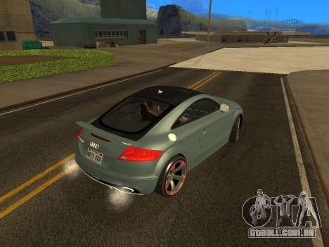 Audi TT RS Plus 2013 para GTA San Andreas esquerda vista