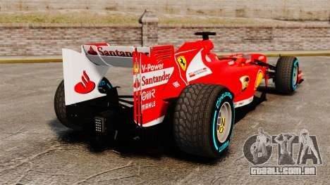 Ferrari F138 2013 v1 para GTA 4 traseira esquerda vista