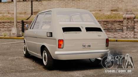 Fiat 126 v1.1 para GTA 4 traseira esquerda vista
