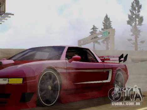 Infernus DoTeX para GTA San Andreas vista traseira