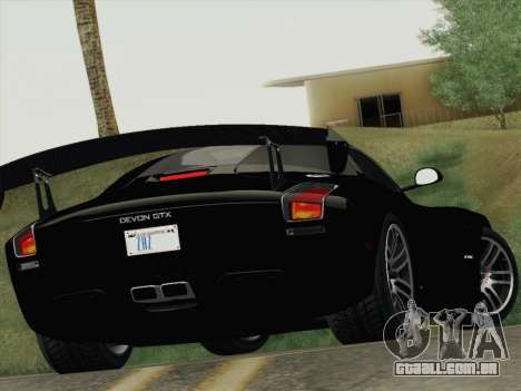 Devon GTX 2010 para GTA San Andreas vista superior