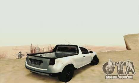 Dacia Duster Pick-up para GTA San Andreas esquerda vista
