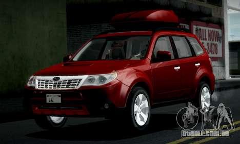 Subaru Forester XT 2008 v2.0 para GTA San Andreas vista interior