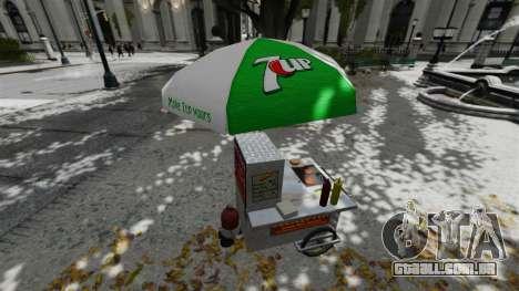 O atualizado quiosques e carrinhos de dogovye qu para GTA 4 sexto tela
