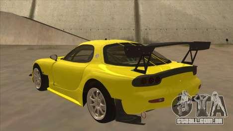 Mazda RX7 FD3S RE Amemyia Touge Style para GTA San Andreas vista traseira