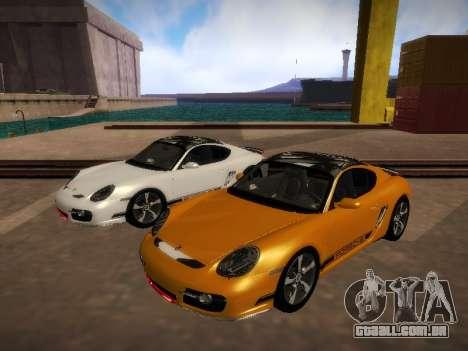 Porsche Cayman R 2007 para GTA San Andreas esquerda vista