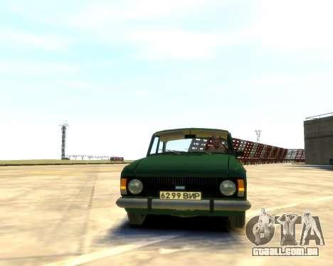 Moskvich 412 para GTA 4 traseira esquerda vista