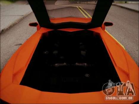 Lamborghini Aventador LP700 para GTA San Andreas interior