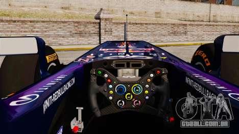 Carro, Red Bull RB9 v2 para GTA 4 vista de volta