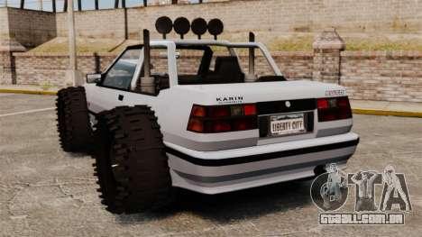 Jeep Futo Final para GTA 4 traseira esquerda vista