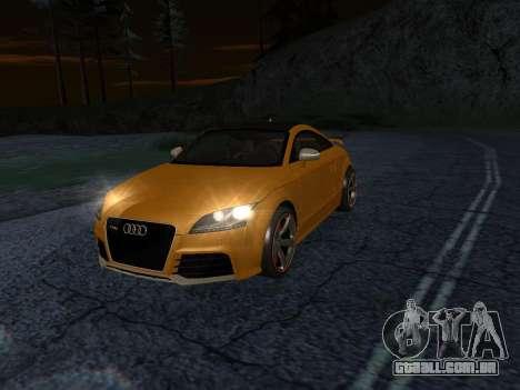 Audi TT RS Plus 2013 para GTA San Andreas traseira esquerda vista