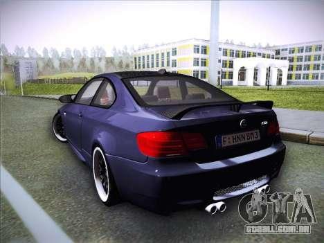 BMW M3 E92 Hamann 2012 para GTA San Andreas esquerda vista