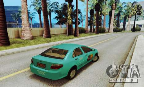 Toyota Corolla City Mastercab para GTA San Andreas traseira esquerda vista