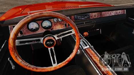 Dodge Charger General Lee 1969 para GTA 4 traseira esquerda vista