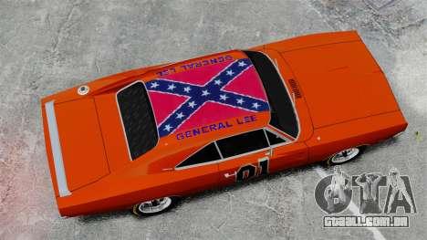 Dodge Charger 1969 General Lee v2 para GTA 4 vista direita