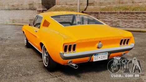 Ford Mustang 1967 Classic para GTA 4 traseira esquerda vista