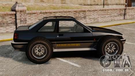 Futo-buggy para GTA 4 esquerda vista