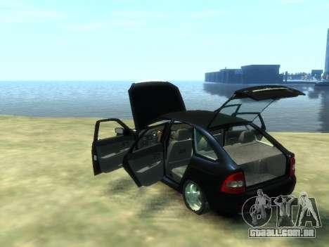 Lada Priora para GTA 4 vista interior