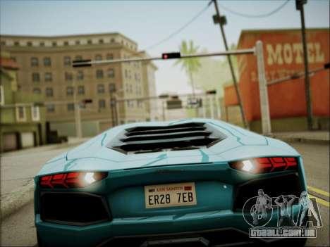 Lamborghini Aventador LP700 para vista lateral GTA San Andreas