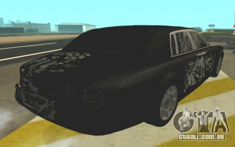 Rolls-Royce Phantom para vista lateral GTA San Andreas