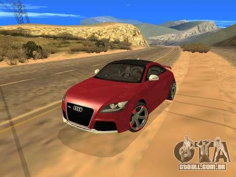 Audi TT RS Plus 2013 para GTA San Andreas vista traseira