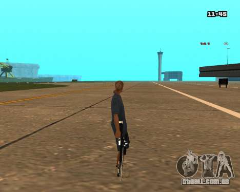 White Chrome Sniper Rifle para GTA San Andreas