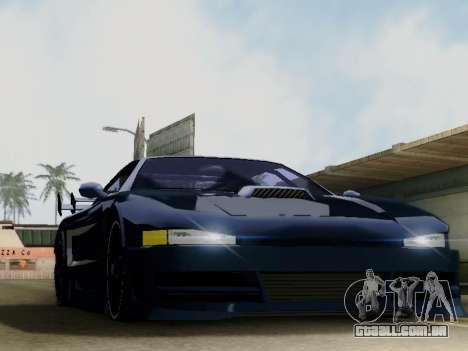 Infernus DoTeX para GTA San Andreas esquerda vista