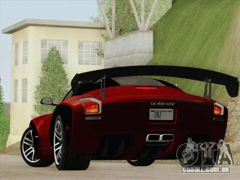Devon GTX 2010 para GTA San Andreas vista direita