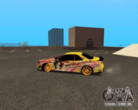 Nissan Skyline R34 Azusa Mera para GTA San Andreas esquerda vista