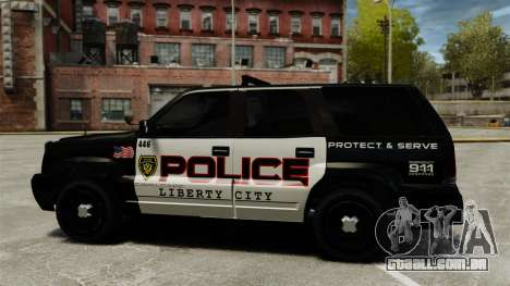 Cavalgada de patrulha para GTA 4 esquerda vista