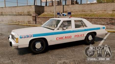 Ford LTD Crown Victoria 1987 [ELS] para GTA 4 esquerda vista