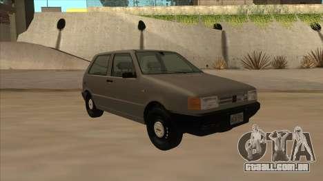 Fiat Uno 1995 para GTA San Andreas esquerda vista