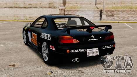 Nissan Silvia S15 v4 para GTA 4 traseira esquerda vista
