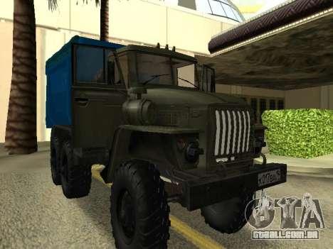 Ural 4320 Tonar para GTA San Andreas vista direita