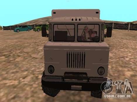 GAZ 66 assistir para GTA San Andreas vista traseira