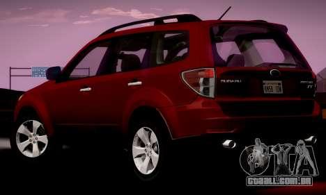 Subaru Forester XT 2008 v2.0 para GTA San Andreas esquerda vista