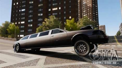 Limusine drag racing para GTA 4 vista interior