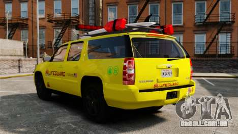 Chevrolet Suburban Los Santos Lifeguard [ELS] para GTA 4 vista interior