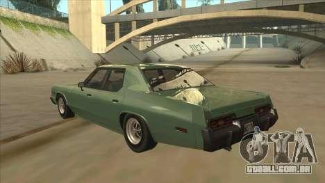 Dodge Monaco V10 para GTA San Andreas vista traseira