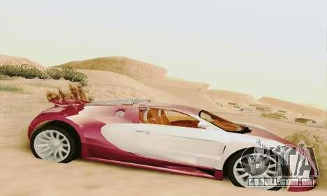 Bugatti Veyron 16.4 Concept para GTA San Andreas traseira esquerda vista