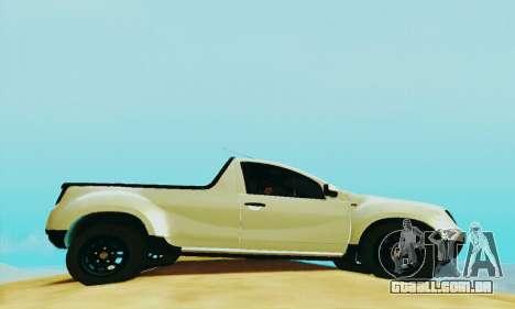 Dacia Duster Pick-up para GTA San Andreas vista direita