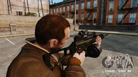 Fuzil de assalto de H & K MG36 v3 para GTA 4 segundo screenshot