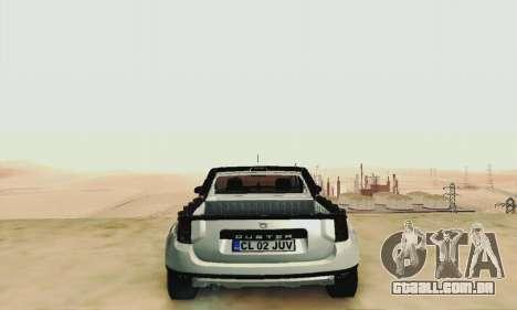 Dacia Duster Pick-up para GTA San Andreas vista interior