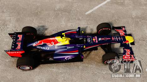 RB9 v6 carro, Red Bull para GTA 4 vista direita